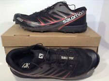 Salomon S-Lab Mens Trail Running Shoes Size 8.5, Black/Red Z8-8