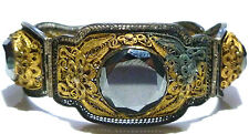 ASIAN CHINA CHINESE EXPORT ORIENTAL STERLING SILVER FILIGREE HEMATITE BRACELET