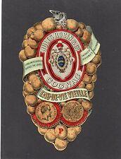 COGNAC VIEILLE CHROMOLITHOGRAPHIE 1860  JULES ROBIN & CO DECOR GRAPPE §01/10/16§