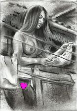 AKT Zeichnung Nude Erotik, Künstler Gosha - Kohle