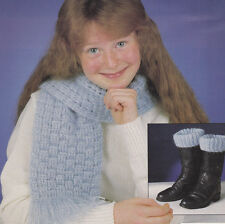 Crochet Pattern ~ Child's SCARF & BOOT CUFFS~ Instructions