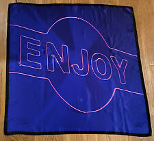 "Paul Smith HUGE Scarf ENJOY ""DAY DREAMING WITH MY CAMERA / NEON SIGN"""