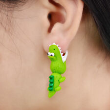 Handmade Polymer Clay Crocodile Stud Earring For Women 3D Earrings Hot Sale