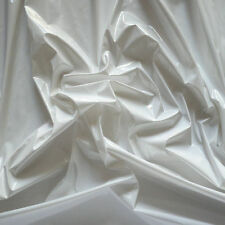 Shiny PVC Vinyl Pleather Gothic Fetish Pitch Baby White by The Yard,  PU-1001