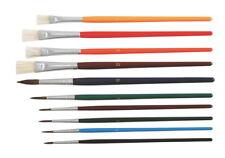 STYLEX 6er Schulmalpinsel-Set Pinselset Borsten Pinsel Haarpinsel Tuschkasten