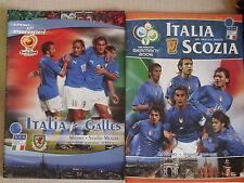DUE PROGRAMMI CALCIO ITALIA SCOZIA E ITALIA GALLES EURO 2004 E MONDIALI 2006
