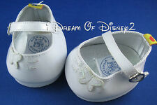 BUILD-A-BEAR WHITE PATENT BUTTERFLY 'BEARY' MARY JANE FLATS TEDDY SIZE SHOES