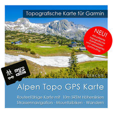Alpes topo GPS Carte Garmin 10m höhelinien (4gb MicroSD carte) Navi, pc & mac