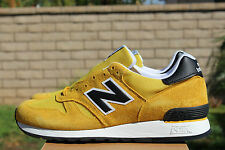 NEW BALANCE M670SMY SZ 8.5 YELLOW BLACK MADE IN ENGLAND UK