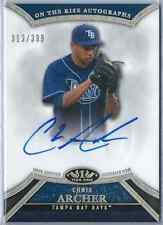 2013 Topps Tier One Chris Archer Prospect Autograph 319/399 Rays