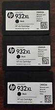 3 Mostly New Genuine HP 932XL Inkjet Cartridges 40% - 59%  Ink Remaining