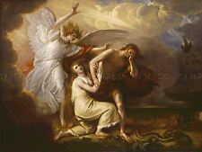 BENJAMIN WEST AMERICAN EXPULSION ADAM EVE PARADISE ART PAINTING POSTER BB4928A