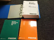 2000 Mazda Protege Service Repair Workshop Shop Manual Set W Engine + Trans Book