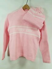 *Rare* Vintage Mary Kay Pink Womens Sweater and Hat Set - Small Medium