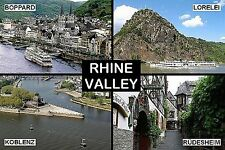 SOUVENIR FRIDGE MAGNET of THE RHINE VALLEY GERMANY