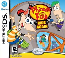 DISNEY PHINEAS AND FERB RIDE AGAIN KIDS GAME NINTENDO DS EXCELLENT CONDITION