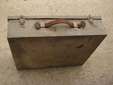 Vintage Used Unmarked Metal Empty box only good for decor