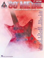 80s Metal Guitar Recorded Versions 2nd Edition 30 Songs! Tab Book NEW!
