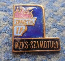 SPARTA SZAMOTULY POLAND FOOTBALL FUSSBALL SOCCER 1960's RARE ENAMEL PIN BADGE