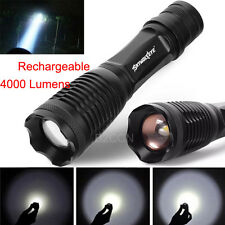 4000LM Cree T6 LED Flashlight Torch Tactical 5 Modes Rechargeable Zoomable Lamp