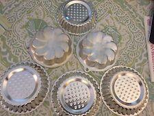 Lot of 6 Vintage Aluminum Jello Tart Molds