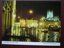 POSTCARD SOMERSET BATH - CITY CENTRE IN THE EVENING