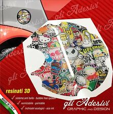 1 Adesivo Resinato Tappo Benzina 3D BRABUS Smart for two 450 452 Sticker Bomb