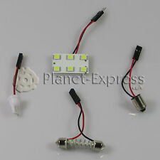 Panel 6 LED SMD C5W Festoon T10 W5W BA9S Maletero Interior... Blanco Xenon placa