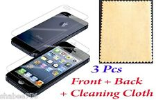 Lot 15 LCD Front Back Iphone 5 5S 5C Screen Protector Anti Scratch Finger Print