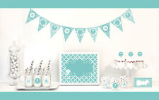 Something Blue Bridal Shower Party Decorations Starter Kit