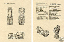 Transformers MIXMASTER Patent Art Print READY TO FRAME!! G1 Devastator Nissan