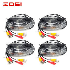 ZOSI 4pcs 100 Feet 30m Video Power BNC Cable Wires for CCTV Security Cameras