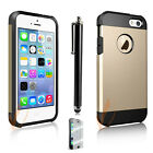 Newest Shockproof Dirt Dust Proof Hard Matte Cover Case For iPhone 5 5S+Film+Pen