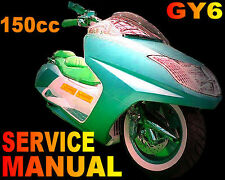 Scooter 150cc GY6 QMJ Service Repair Shop Manual on CD liquid Xinling Honglei