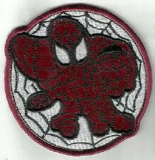 Iron On/ Sew On Embroidered Patch Badge Spiderman Spider Man Face Web Circle