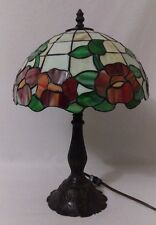 Rose Stained Glass TIFFANY STYLE Table Lamp Light