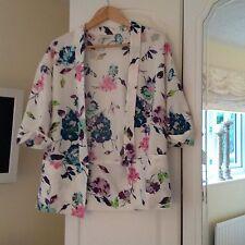 Miss Selfridge White Flowered Jacket Size 8