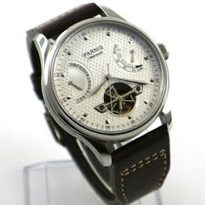 Parnis 43mm white dial power reserve seagull  Automatic movement Men's watch p8