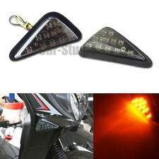 2pcs Motorcycle Amber 11-LED Sidemarker Turn Signal Indicator Blinker Lights