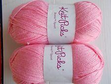 Knit Picks Brava Sport yarn, Cotton Candy (pink), lot of 2 (273 yds each)