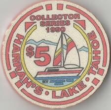 HARRAH'S LAKE TAHOE $5 1990 SAIL BOAT   CASINO  CHIP