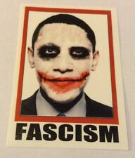 Autocollant/Pegatina/Sticker/Glossy: Obama/ Fascism/President Barack Obama