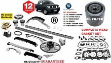 FOR NISSAN NAVARA D40 2.5TD 2006-  TIMING CHAIN KIT + GASKET SET + OIL FILTER