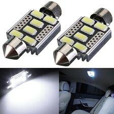 2X 36mm C5W 5730 SMD 6 LED Canbus ODB Festoon Dome Interior Bombilla luz