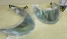 TWO (GETS 2) SCORPION HELMET MOTORCYCLE VISORS   EXO-750  BOTH GREEN MIRROR