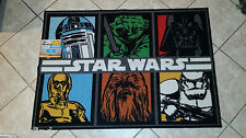 DISNEY STAR WARS CHEWBACCA C-3PO R2-D2 YODA AREA FLOOR RUG CARPET~NEW~ROOM DECOR