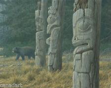 Robert BATEMAN Totem Pole & Black Bear LTD art print MINT in folder with COA