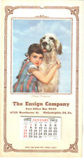 1962 Ensign Company Advertising Calendar, Philadelphia Penna. Proud Protector
