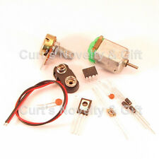 DIY BREADBOARD DC SPEED CONTROL W/MOTOR ELECTRONIC PROJECT KIT - BONUS
