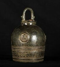 Antique Thai Style Southeast Asia Meditating Buddha Bell - 21cm/8""